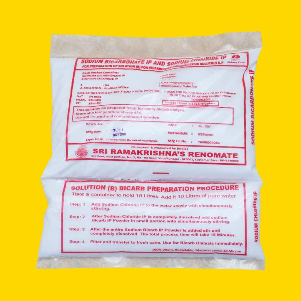 Sodium Bicarbonate IP and Sodium Chloride IP